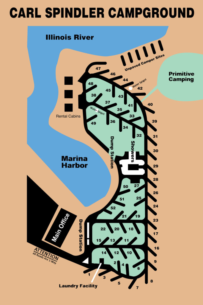 Campground Layout Welcome To Fondulac Park